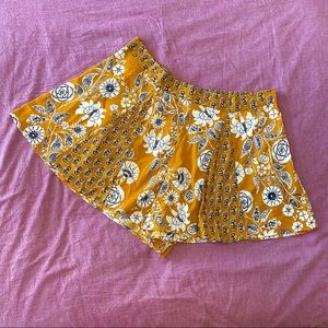 B.O.G. collective yellow floral shorts